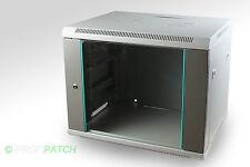 """19"""" Wandgehäuse Netzwerkschrank Serverschrank 9HE BxHxT 600x480x500 grau"""