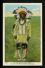 Native Americana postcard Iron Hail Sioux Indians Iron Hail Wounded Knee Vintage