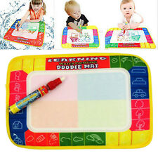 Water Writing Painting Mat Board Magic Pen Doodle Toy Kids Boy Girls Baby Gift