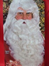 Father Christmas Wig and Beard set with eyebrows ~ Platinum blonde