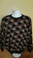 XL Protege Collection Argyle Pattern Crew Neck Sweater Shirt Cosby 80s 90s Look