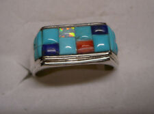 Mens Turquoise Ring  Size 13  14 gemstones  2.82tcw  MSRP$479
