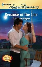 Because of the List by Knupp, Amy, Good Book