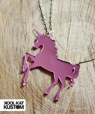 EINHORN KETTE Unicorn Necklace rosa pink Spiegel Magic magisch Fantasy Laser