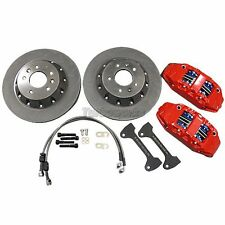 CXRacing Front Big Brake kit BBK 4 Piston Caliper 330x28 Rotor 05-10 Ford Focus