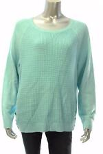 New Women's #2109 Karen Scott Angel Blue Boat Neck Sweater Long slv Sz L