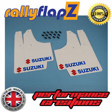Rally Mudflaps Suzuki Ignis Sport 03-05 Mud Flaps White Logo Red &Blue (3mm PVC)