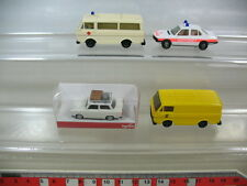 L97-0,5# 4x Herpa H0, DRK Krankenwagen VW LT, Trabant on Tour, BMW 528 i, TOP