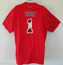 Adidas CHICAGO BULLS DERRICK ROSE Jersey-Tee Basketball Graphic Shirt~Men sz 2XL