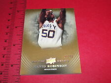 2013 UD All Time Greats / David ROBINSON #10 Gold SP/50 San Antonio SPURS - NAVY