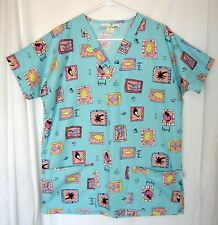 Carol's Uniforms Hawaiian Tropical Theme Medical Veterinary Scrub Top Medium