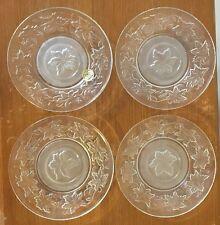 "PRINCESS HOUSE Crystal Christmas Fantasia POINSETTA glass 6"" SAUCER/BREAD PLATE"