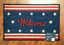 """DOOR MATS PATRIOTIC COIR DOORMAT AMERICANA DOOR MAT STARS & STRIPE 18"""" x 28"""" NEW"""
