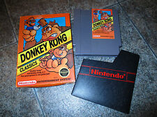 Donkey Kong Classics Nintendo NES * Near Complete in Box * NR CiB NO MANUAL NICE