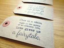 100 Rustic Fairytale Tags - Vintage Wedding Place Cards/Decoration/Wishing Tree