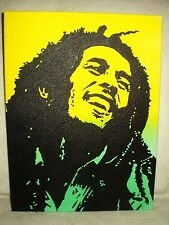 Canvas Painting Bob Marley Yellow & Green Art 16x12 inch Acrylic