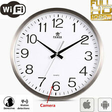 Wifi 1080P HD Spy Hidden Wall Clock Camera DVR Motion Detection Nanny Record