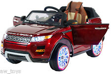 2017 Range Rover 12v Battery Powered Electric Ride On Kids Toy Car Remote Red