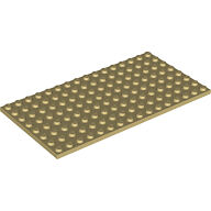 LEGO 92438 Loose Part Tan Color Base Plate 8x16 NEW (Thicker Version)