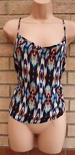 PRIMARK STRAPPY MULTI COLORED TRIBAL LEOPARD CAMI BLOUSE  TOP T SHIRT TUNIC 8 S