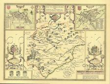 Rutland OAKHAM Replica Old  John Speed map FULL SIZE PRINT  c1610  UNIQUE GIFT