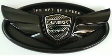 HYUNDAI GENESIS COUPE FRONT REAR GLOSSY BLACK WING EMBLEM TRUNK OR GRILLE