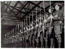 1934 Vintage Photo carrying bayonet rifles Australian Guard of Honor Soldiers