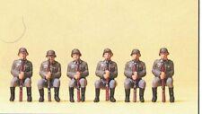 Military Sitting Armoured infantry Deut. reich 1939-45 Preiser 16877 Figurines