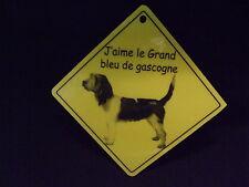 Pancarte -  J'aime le Grand bleu de Gascogne