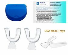 Dental Tray Set 3 Moldable Teeth Whitening Impression Trays with Retainer Case.