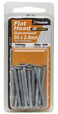 Paslode FLAT HEAD NAIL 50x2.8mm 35Pcs 100g Galvanised Timber Connector AUS Brand