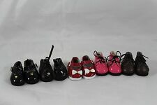 LOT OF 5 DOLL SHOES  FOR POLYMER CLAY OOAK BABIES S0242,S0243,S0244,S0245,S0246