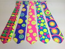 Funky Coloured Ties Clown Fancy Dress Party Bow Tie