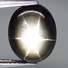 4.34ct.PICTURESQUE GEM! 100%NATURAL 6 RAYS BLACK STAR THAILAND'S SAPPHIRE