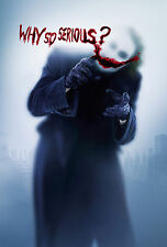 The Joker Heath Ledger Why So Serious Poster Print A4 260gsm