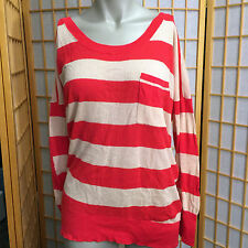 Victorias Secret the Moto Elbow Patch Lightweight Sweater Striped Womens Size M