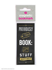 Brainbox Candy Some Stuff Happened black magnetic bookmark funny cheap gift