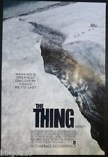 THE THING ORIGINAL 1 SHEET POSTER JOEL EDGERTON 2011 HORROR TEASER