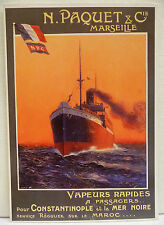 CPM REPRODUCTION AFFICHE ANCIENNE / N. PAQUET & Cie / DELLEPIANNE