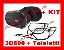 BORSE LATERALI 3D600 + TELAIO TE1111 HONDA NC750 X 2014 + KIT 1111KIT