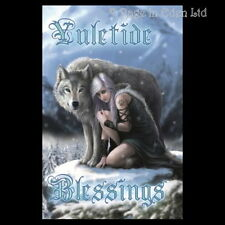 *PROTECTOR* Anne Stokes Gothic Fantasy Wolf Art Blank Christmas Card (AN71)