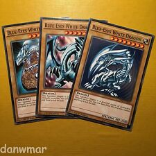 3 x Blue-Eyes White Dragon ~ inc. Original Art ~ YuGiOh! ~ 1st Edition ~ Mint!