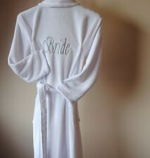 Personalised ANY NAME , Luxury fleece Robe, Dressing Gown,wedding robe