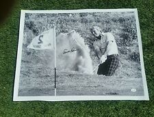 MUST SEE! #1 MASTERS GOLF LEGEND ARNOLD PALMER SIGNED 18X24 CANVAS PHOTO JSA COA