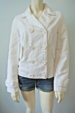 LACOSTE Women Cotton Linen Classic Double Breasted Jacket NwT size 8