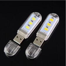 Mini Portable Bright 3 LED Night Light USB Lamp for PC Laptop Reading 5730 SMD W