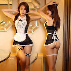 Sexy Lace Sleepwear Cosplay Maid Lingerie Outfit Fancy Dress Costume + G-string