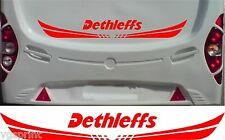 DETHLEFFS CARAVAN/MOTORHOME 2 PIECE KIT DECALS STICKER CHOICE OF COLOUR & SIZE