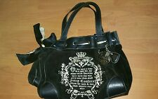 Juicy Couture Royal Hobo Bag in Black Velour 12X12X5