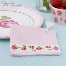 VINTAGE ROSE PAPER NAPKINS -Shabby Chic- Afternoon Tea/Party-FULL RANGE IN SHOP!